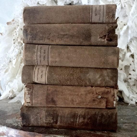 Old Books, antique books, wonderful decorator 100 year old books.