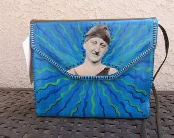 Upcycled Purse, Just Keep Swimming, Blue and Green