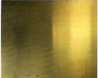 """Brass Sheet 16ga 12"""" x 12"""" 1.30mm Thick"""
