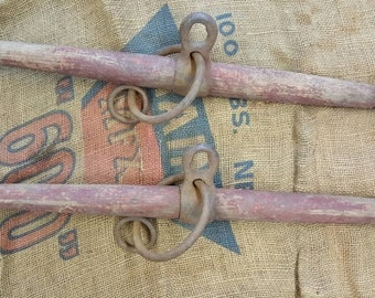One Antique Whipple Tree/Horse Yoke With Old Red Paint from Rustysecrets