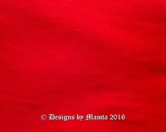 Crimson Red Dupioni Fabric Fat Quarter, Candy Red Art Silk Fabric, Bridal Silk Fabric, Designer Silk Fabrics, Silk Dupioni Fabric, Art Silk