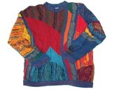 COOGI Australia Special Price Sweater size XL Cotton Crew Neck Textured Geometric Pullover Unisex fits like a LARGE as-is
