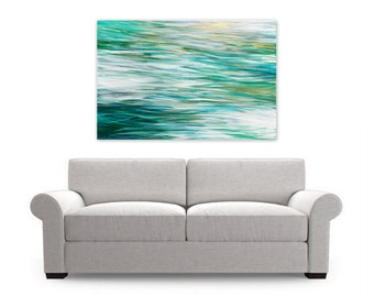 Digital Art Print, Instant Download, Abstract Painting, Modern Beach House Decor, teal turquoise dark green gold white, ocean water coastal