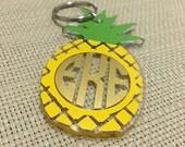 Pineapple Monogrammed Keychain
