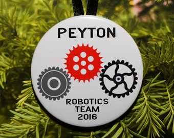 Robotics Christmas Ornament - Customized - Gears - C176