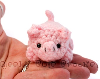 Pig Yami Amigurumi Crochet Stuffed Plush Desk Toy
