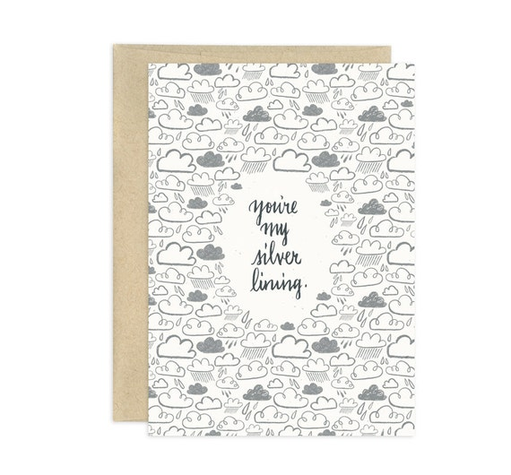 You're My Silver Lining Illustrated Greeting Card