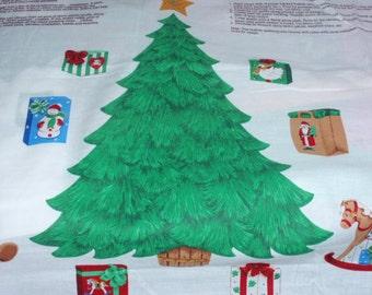 Applique Christmas Tree 2 Scales Design Panel  100% Cotton Fabric by Cranston