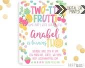 Twotti Frutti Invitation | Digital or Printed | Twotti Frutti Invitation | Fruity Party | Twotti Fruity Invite | Fruit Invitation | Pastel