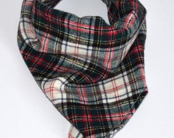 Plaid flannel Winnie Bandana, dog bandana, pet bandana, tie bandana