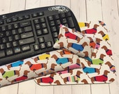 Dachshund Mouse pad set - mouse wrist rest - keyboard rest - mouse pad set coworker gift Desk Accessories