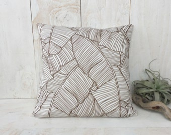 Banana Leaf Pillow Cover - High quality zippered pillow cover