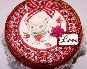 Decorated  Box, Valentine Day, Red, Gift Box, Heart, Sweetheart, Candy Box, Jewelry Box, Trinket Box, Decorated Box, Free Shipping, Love