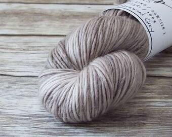 DK Yarn, Hand Dyed Alpaca/Merino/Silk Yarn, Hand Dyed Merino Yarn, Knitting Yarn, Handpainted, Double Knit Weight, Barnwood