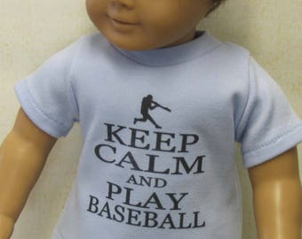 """Assorted Sport T-Shirts for 18"""" Dolls"""