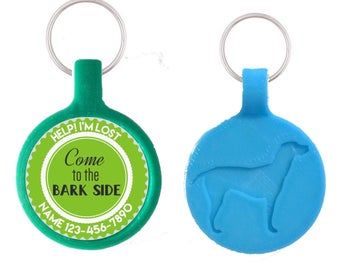 Come to the Bark Side Pet ID Tag, Available in 11 Colors