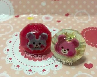 Pink Bear Jewel Ring