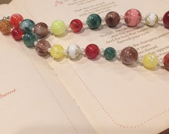 16inch Beaded Necklace with Vintage Beads