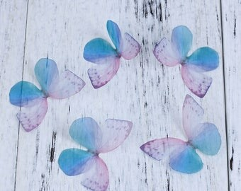 free UK postage Pack of 5 Ethereal Organza Blue/purple Butterfly for Millinery or Decoration B0084196