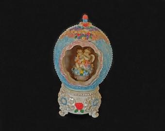 Vintage Music Box Egg, Victorian Style, Musical Decor, Girls Room Decor, Home Decor, Musical Box,