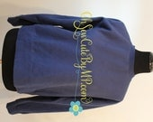 Blank Comfort Colors Lady Medium Sweatshirt True Navy