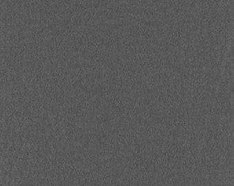 "Dark Gray Solid Tone Designer Wool Felt by the Foot - 100% Wool, 70.9"" Wide, 2mm, 3mm and 5mm Thicknesses Available, Buy More Save More"