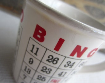 Vintage Bingo Game Board Coffee Mug by Lego Korea