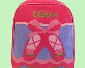 Personalized Stephen Joseph GoGo Backpack BALLET SLIPPERS Themed Bag