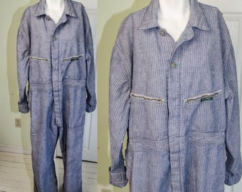 Vintage 1950's Mens Work Coveralls by Key Imperial Sanforized