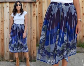 Vintage 70s GYPSY BOHO Maxi Skirt M L XL