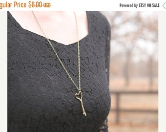 CHRISTMAS SALE 60  PERCENT Off Sale    Heart Key Necklace // Long Key Necklace // Wife Present Fiance Present // Bridesmaid Gifts // Bridesm