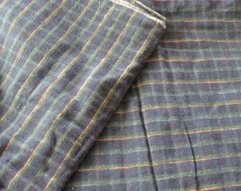 Antique ~ Vintage WIndow Pane Cotton Flannel Ticking Fabric by the Yard