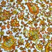 Vintage Fabric  - Yellow Orange Paisley Canvas - 44 x 34 Upholstery