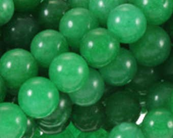 4mm Green Jade Round Beads