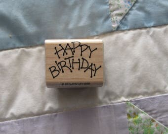 Stamp for Scrapbooking or Card Making- Happy Birthday- Unused Rubber Stamp