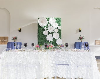Large paper flowers in the colors of your choice Flowers ONLY