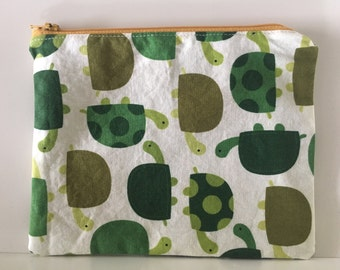 Nylon Zipper Reusable Sandwich Bag, Turtle