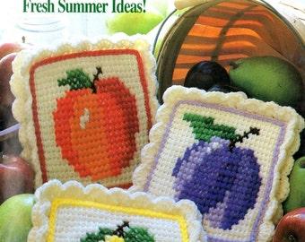 Annie's Crochet Newsletter Pot Holders Heart Place Mat Chair Set Fishing Pond Rug Stuffed Teddy Bear Craft Pattern Magazine 34 July Aug 1988