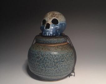Blue Sands Skull Urn