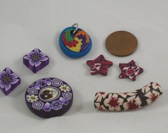 Destash! Lot of Polymer Clay Fimo? Components for Earrings and Necklaces by ceeceedesigns on etsy