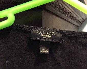 Long sleeve Black Talbots L Petite shirt sale