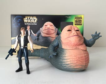 Vintage Star Wars Figures Han Solo & Jabba The Hutt, Action Figure Toys, Harrison Ford Star Wars Gift for Men, for Dad, Fathers Day Gift