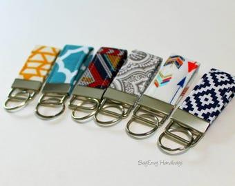 Mini Key Fob - Arrows / Aztec / Southwest / Choose Your Fabric - Teacher / Bridesmaid Gift - SALE