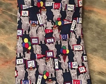 Republican National Convention Silk Tie politics election State Delegates Alynn Elephant