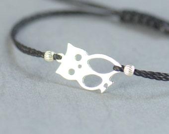 Sterling silver  Owl charm bracelet