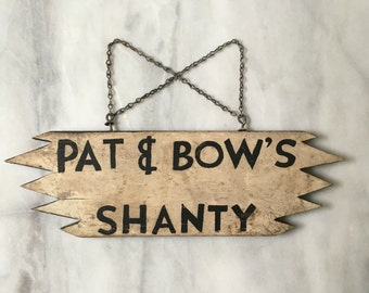 Vintage Ice Shanty Ice Fishing Sign