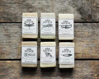 6 Small Bars, cold process soap, handmade soap, soap gift set, natural soap, lightly scented, homemade soap, vegan, bar soap, artisan soap