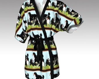 Berners In The Grass Kimono Robe