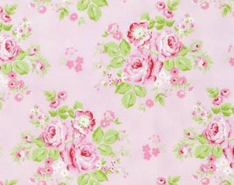 Pink Rambling Rose  PWTW129-PINK Cotton Fabric by Tanya Whelan Free Spirit
