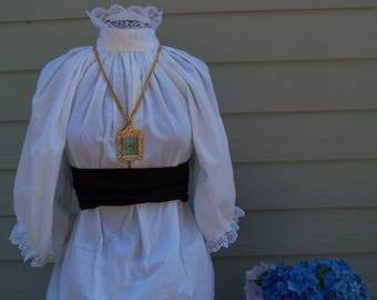 Custom Fedex Girls Victorian Dress with Lace and Sash costume all colors